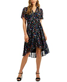 Ditsy-Floral A-Line Dress