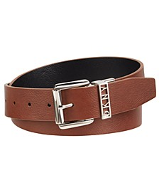 Reversible Smooth Belt With Logo Keeper