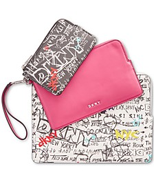 Ashlee Graffiti Wristlet Pouches, Set of 3