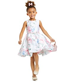 Little Girls Printed Mikado Bubble Dress