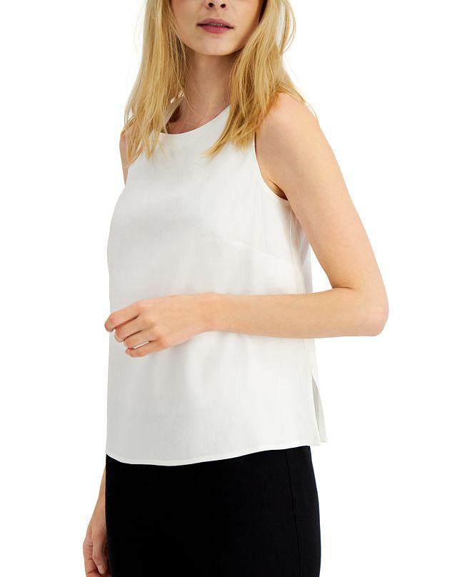 Alfani Sleeveless Linen-Blend Top, Created for Macy's
