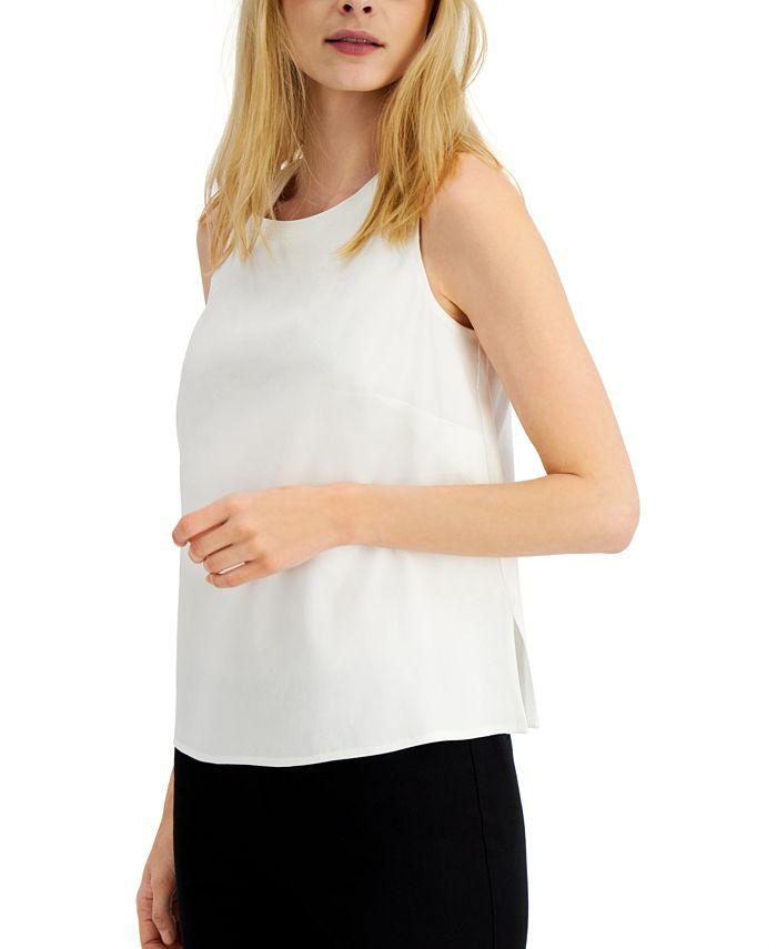 Alfani - Sleeveless Linen-Blend Top, Created for Macy's