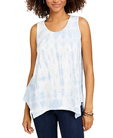 Petite Clear Skies Tie-Dyed Tank Top, Created for Macy's