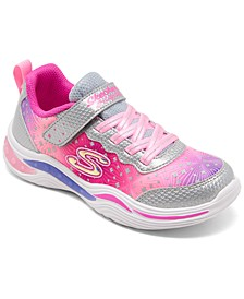 Little Girls' S Lights: Power Petals - Painted Daisy Sporty Casual Sneakers from Finish Line