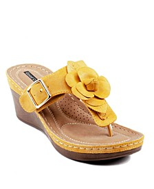 Flora Wedge Sandal