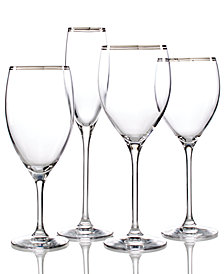 kate spade new york Library Lane Platinum Stemware Collection