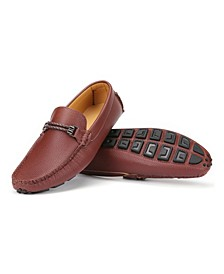 Men's Speckled Leather Casual Loafers