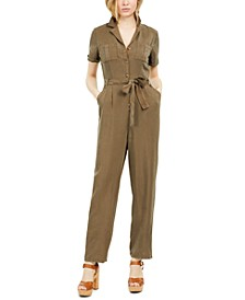 Short-Sleeve Utility Jumpsuit