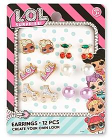 Little & Big Girls 6-Pair Earrings Set