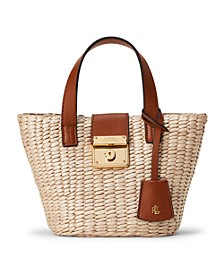 Structured Straw Mini Reese Tote
