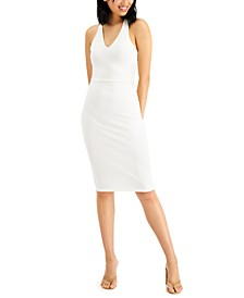 Juniors' Crisscross-Back Slim Dress