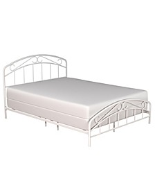 Jolie Arched Scroll Metal Bed, Full