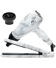 Mini Hair Iron & Blow-Dryer Travel Set