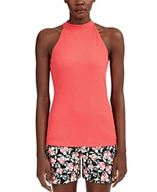 INC Mock-Neck Halter Top, Created for Macy's