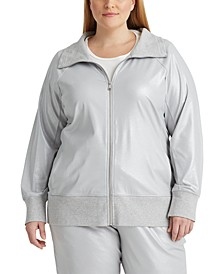 Plus-Size Turtleneck Jacket