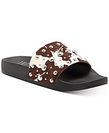 INC Peymin Pool Slide Sandals, Created for Macy's