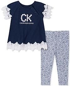 Baby Girls Tunic and Printed Leggings Set