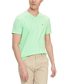 Men's Performance Stretch Solid V-Neck T-Shirt