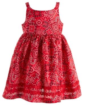 Blueberi Boulevard Baby Girls Red Handkerchief Dress