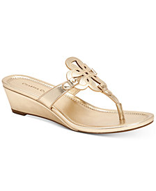 Charter Club Penelopee Wedge Slide Sandals, Created for Macy's