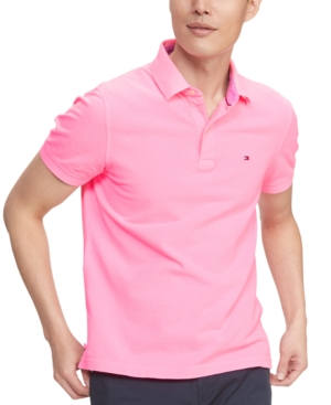 Tommy Hilfiger Men's Ivy Custom-Fit Neon Polo Shirt
