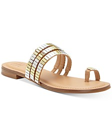 INC Jaylee Embellished Toe-Ring Flat Sandals, Created for Macy's