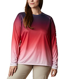 Plus Size PFG Super Tidal Printed Active T-Shirt