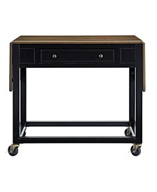Whitney Drop-Leaf Kitchen Cart