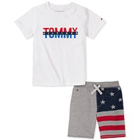 Tommy Hilfiger Baby Boys Flag Short Set (Size: 18m/24m)