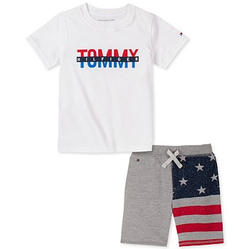 Tommy Hilfiger Baby Boys Flag Short Set