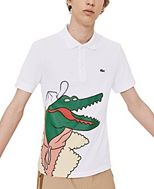 Men's Croco Series Jean-Michel Tixier Limited-Edition Polo with Oversize Croc Graphic
