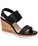 Alfani Womens Step N Flex Tillee Banded Wedge Sandals Created for Macys Womens Shoes