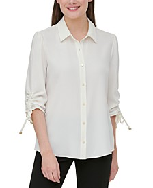 Drawstring-Sleeve Shirt