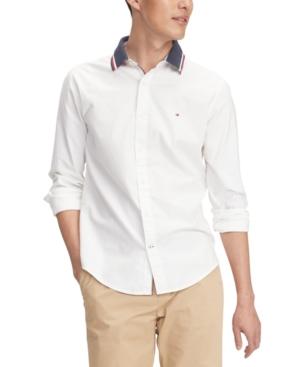 Tommy Hilfiger Men's Custom-Fit Stretch Mayer Oxford Shirt
