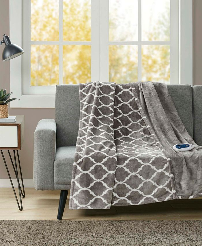 Beautyrest - Oversized Ogee Electric Throw