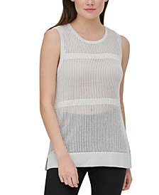 Sheer Sleeveless Sweater