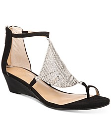 Tysson Jewel Wedge Sandals, Created for Macy's