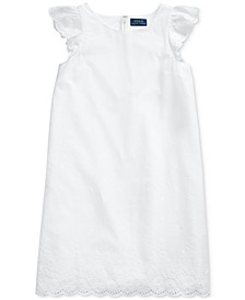 Big Girls Eyelet Cotton Batiste Dress