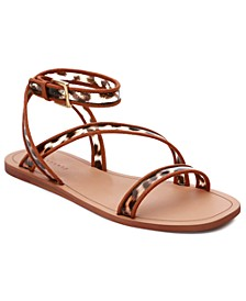 Nellie Vinyl Flat Sandals