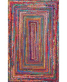Nomad Hand Braided Tammara Cotton Multi 4' x 6' Area Rug