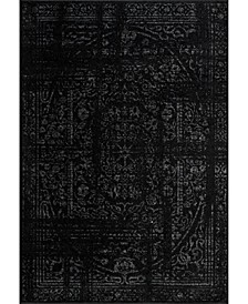 Smoky Vintage-Inspired Arlena Black 5' x 8' Area Rug