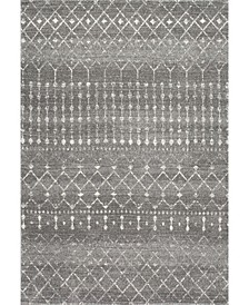"""Bodrum Moroccan Blythe Charcoal 6'7"""" x 9' Area Rug"""