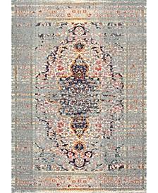 Casablanca Distressed Persian Sarita Gray 4' x 6' Area Rug