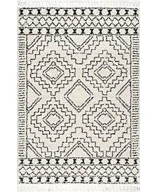 "Diana Vasiliki Moroccan Tribal Ivory 5'3"" x 7'7"" Area Rug"