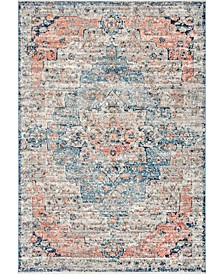 Delicate Celeste Persian Vintage-Inspired Multi Area Rug