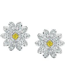 Silver-Tone Eternal Flower Stud Earrings
