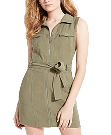 Aja Belted Cargo Mini Dress