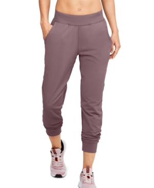 Enjoy complete comfort with these relaxed joggers from Under Armour, in super-soft stretch fabric with moisture-wicking performance.