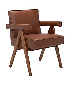 Suri Mid Century Arm Chair In Brown