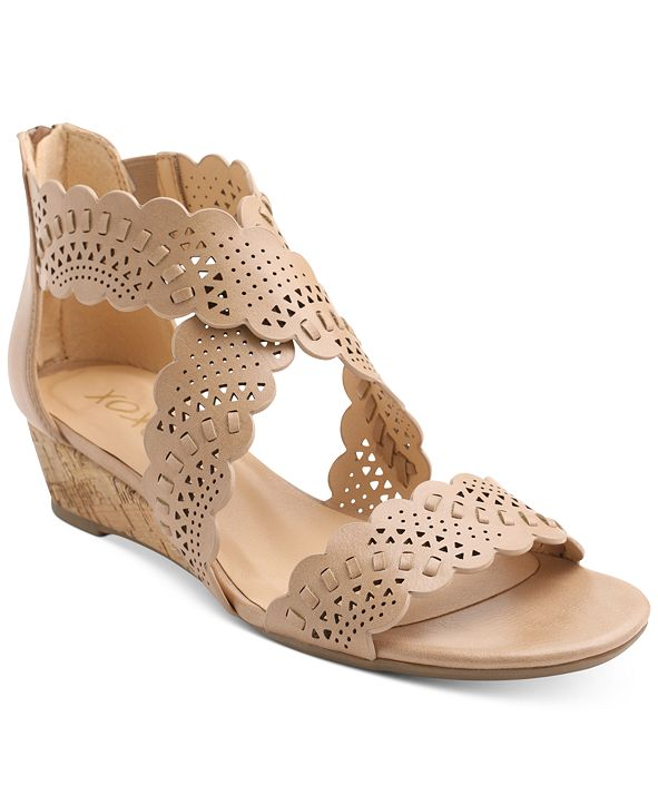 XOXO Amarissa Crisscross Wedge Sandals